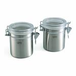 Посуда Gipfel Набор из 2 банок для герметичного хранения сыпучих продуктов 10х12 см / 0,9 л (нерж. сталь) арт.5583